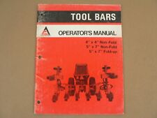 Allis Chalmers Tool Bars Owners Operators Manual Set Up Instructions  1976