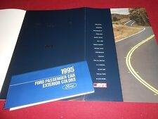 1995 FORD MUSTANG SVT COBRA 18 p. CATALOG + 95 FORD PAINT COLOR CHIPS BROCHURE