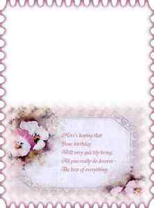 15 x assorted colour faded pansy  inserts  A5 cards
