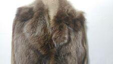 new design 100% real raccoon fox fur waistcoat