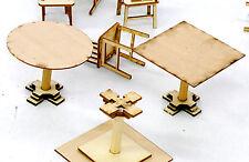 BANTA MODELWORKS CAFE/BAR TABLES F G Large Scale Model Railroad Structure BM916