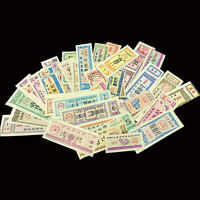 China Cloth Coupon Set, Lot 50 PCS Different Notes, cloth, AU-UNC