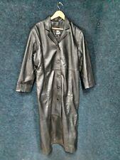 Abrigo Largo Cuero Negro Tamaño 3XL buen hacer heeli de Londres.