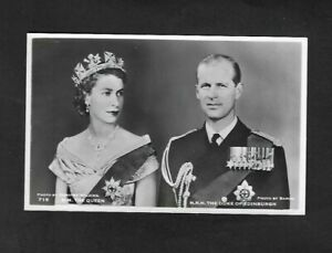 1950's Queen Elizabeth II & Duke of Edinburgh Real Photo Postcard