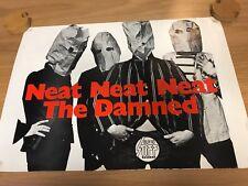 "THE DAMNED ULTRA RARE ORIGINAL STIFF 1977 PUNK PROMO POSTER ""NEAT NEAT NEAT"""