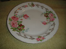 Vintage Bavaria M Large Serving Cabinet Plate-Pink Rose Pattern-Marked Crown