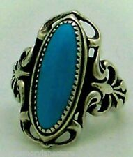 Ring by Wheeler Mfg., Size 5 Beautiful Vintage Estate Turquoise Sterling Silver