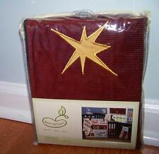 BEANSPROUT LITTLE CHAMP GOLD STARS MAROON CORDUROY WINDOW VALANCE NEW