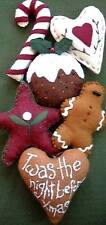 PRIMITIVE FOLK ART SEWING PATTERN 'SUGAR & SPICE'  CHRISTMAS DECORATIONS