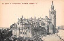 Spain postcard Sevilla Vista general de la Catedral