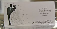 Personalised Wedding Day Gift Wallet for Money/Voucher/Gift Card - Handmade