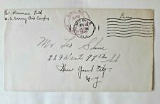 US military free cover 1942 WWII army air cargo Mobile AL to NY; double marked