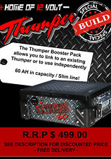 Thumper 60 AH Booster Battery Pack slim line AGM Deep cycle for 4wd 4x4 camping