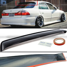 Fit 98-02 Accord 4DR Sedan Black Tinted Rear Roof Window Shade Visor Spoiler