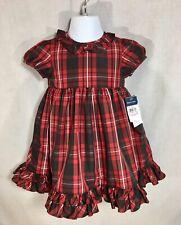 Ralph Lauren Baby Plaid Dress Size 18M Red Black