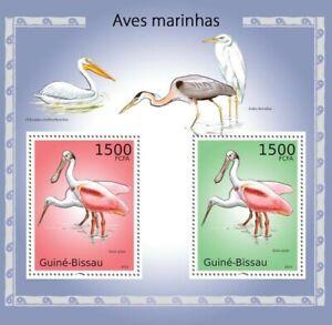 GUINEA BISSAU 2010 FAUNA MARINE BIRD 2 SUBJECT SOUVENIR SHEET #46