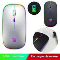 A5 Wireless Micro-USB Rechargeable Mouse Colorful Breathing Light Game Mice