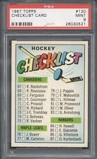1967 Topps Hockey #120 Checklist Card PSA 9