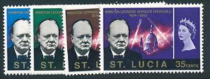 ST LUCIA 1966 CHURCHILL COMMEMORATION SG216/219  MNH