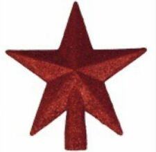 Shiny Decorative Christmas Tree Topper Glitter Large (Red)