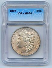 1897 $1 Morgan Silver Dollar. ICG Graded MS 66. Lot #2732