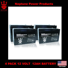 4 Pack - 12V 12Ah Ebike Electric Scooter Battery E-Bike Boreem Battery