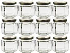 Cornucopia Hexagon Glass Jars Pack of 12 4oz, New