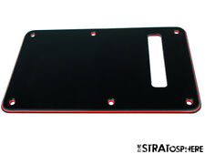 *NEW TREMOLO BACK COVER for Fender Standard Stratocaster Strat BLACK/RED/BLACK!