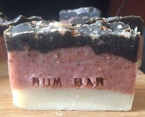 3 X Rum Bar Soap For Men (the Dirty Mans Soap) Natural, Organic