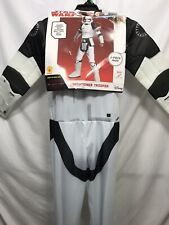 Star Wars Storm Trooper Last Jedi Costume Helmet Jumpsuit Youth Medium Size 8-10