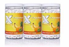 Xyloburst Fruit Aspartame-Free Xylitol Gum 500 Count Jar 3 Pack