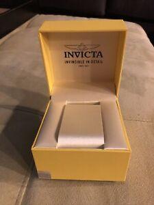 INVICTA Authentic Yellow Watch Box Storage Case Presentation Display MEDIUM