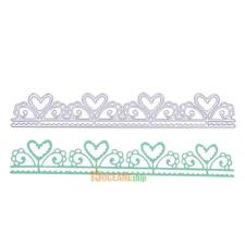 Heart Borderline Lace Metal Die Cutting Dies DIY Scrapbooking Embossing Folder