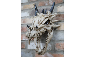 Large Decorative Dragons Skull With Horns Wall Hanging Wall Art