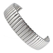 18mm Women Stainless Steel Silver Watchband Wrist Strap Flexible Bracelet Bangle