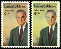 1503, MNH 8¢ Johnson Partial Color Omitted ERROR With Normal - Stuart Katz