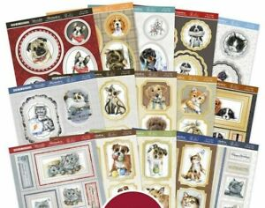15 Hunkydory Pop a Topper It's A Cat's & Dog's Life 160mm x 160mm Sheets NEW