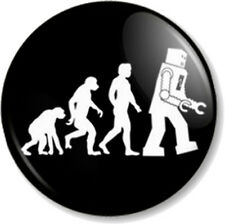 "Robot Evolution 1"" 25mm Pin Button Badge Big Bang Theory Sheldon Cooper Geek Fun"