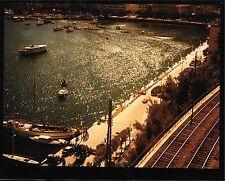 MONACO GRAND PRIX 1950s FERRARI IN THE HARBOUR COLOUR PHOTOGRAPH FOTO