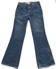Hydraulic Womens Square Carpenter Pocket Flare Leg Vintage Style Jeans Size 10