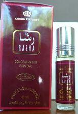 RASHA  by AL REHAB CONCENTRATED PERFUME OIL ATTAR OUD ROSE JASMINE NO ALCOHOL.