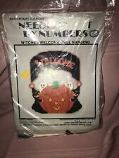 Witches Welcome Needlepoint By Numbers Plastic Canvas Kit 13x11 Halloween
