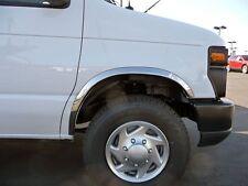 CHROME FENDER TRIMS for 1992-1998 Ford Econoline Van - Wheel Well Mouldings