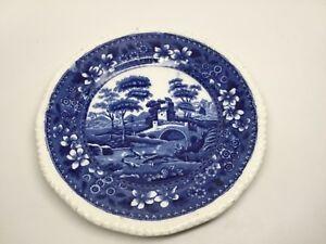 "Vintage Copeland ""Spode's Tower"" England 7 1/2 Plate Cobalt Blue - Gadroon EUC!"