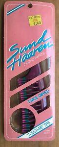 Vintage NOS 1986 Sund Haaren Twice Dipped Tips Detangling Comb as Goody Purple 8