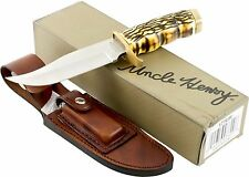 SCHRADE Uncle Henry PRO HUNTER Bowie Knife SCH171UH New Hunting Leather Sheath