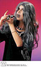 sorcière Perruque Evil crudelia Horreur Halloween long gris perruque