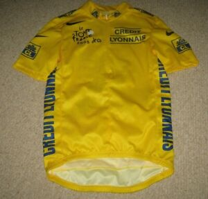 TOUR DE FRANCE 2005 NIKE YELLOW LEADERS CYCLING JERSEY [M]..