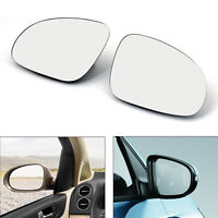 Door Mirror Left&Right Glass Heated W/Holder For VW Golf GTI Jetta MK5 Passat *
