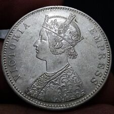 1879 BRITISH INDIA QUEEN VICTORIA ONE RUPEE SILVER COIN HIGH GRADE